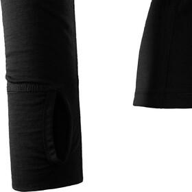 Aclima LightWool Camiseta Cremallera Hombre, negro